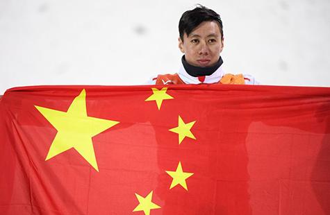平昌冬奥会自由式滑雪男子空中技巧决赛 贾宗洋屈居亚军
