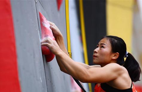 """2018""""一带一路""""中国青海高原国际攀岩大师赛速度赛赛况"""