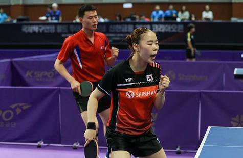 乒乓球韩国公开赛:韩朝组合混双资格赛首胜