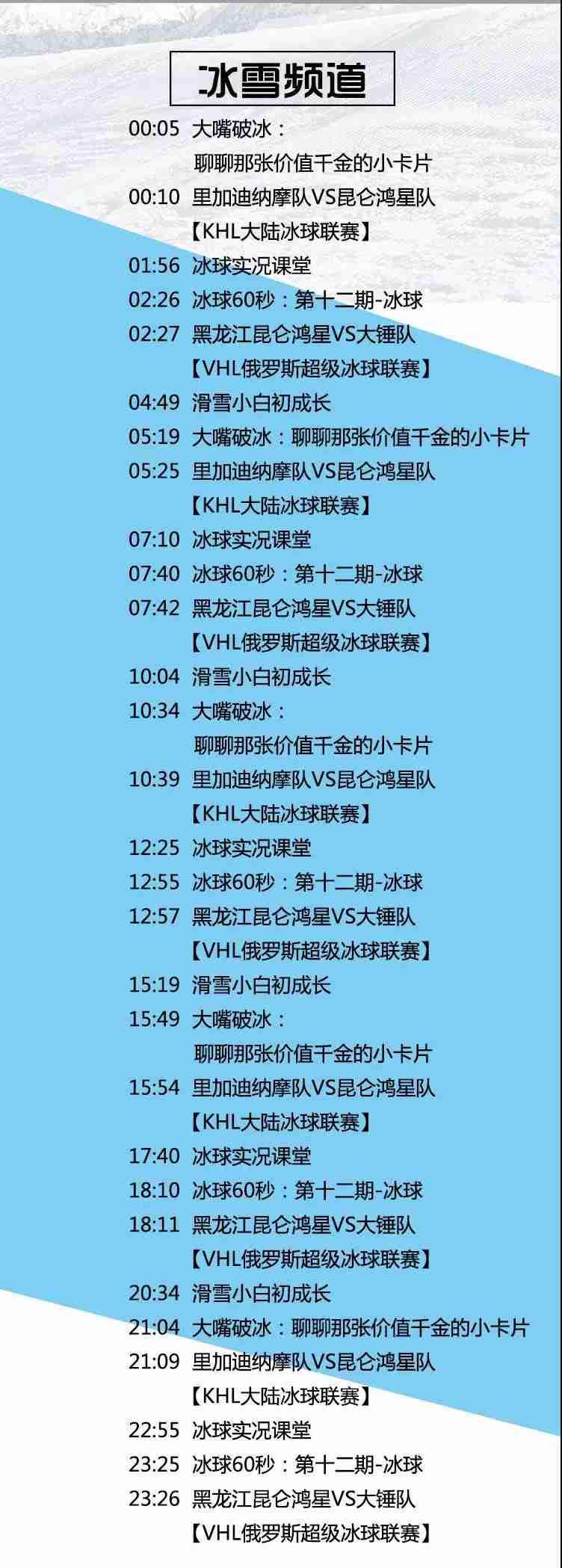 2020年1月18日体育电视节目单