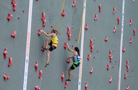 中国攀岩速度系列赛在青岛莱西闭幕