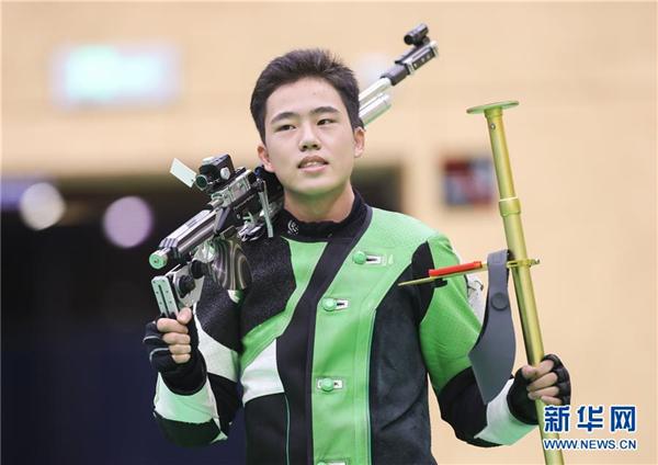 全国冠军赛:刘柏辰夺得男子10米气步枪冠军