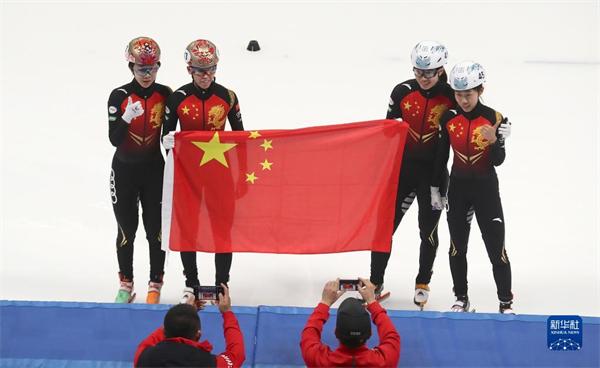 冰雪之約中國之邀|短道速滑 世界杯北京站:中國隊奪得女子3000米接力冠軍